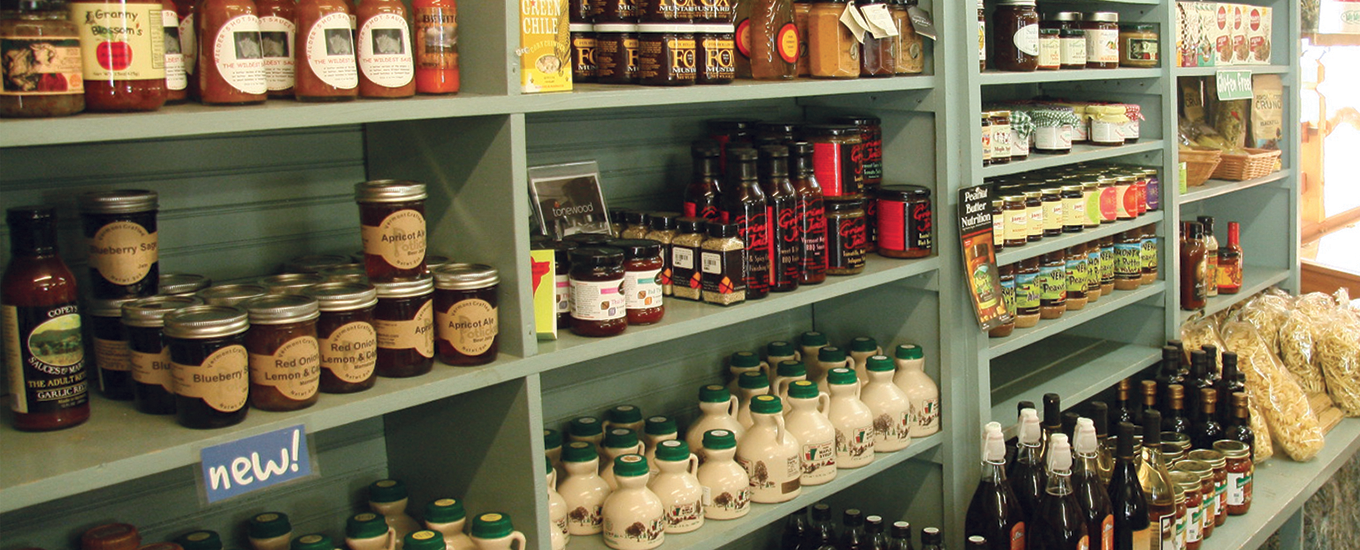 Provisions Shelves at the Warren Store