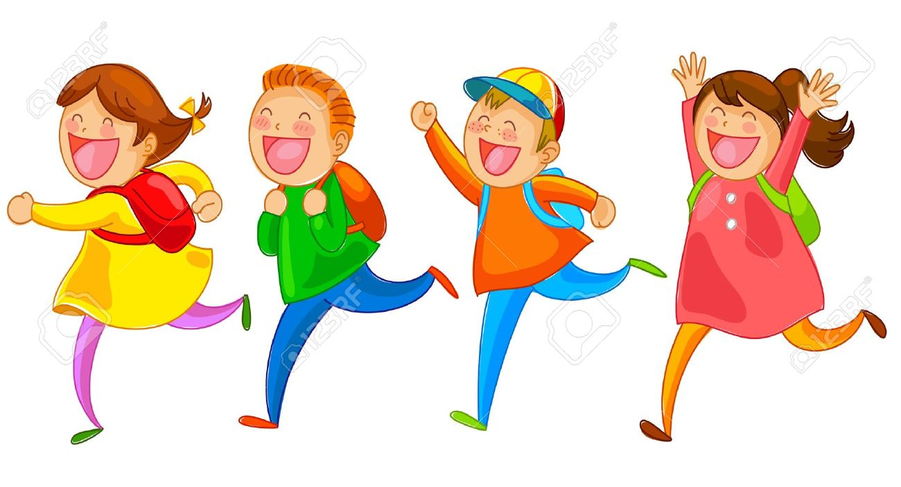 clipart-children-running-out-of-the-school-3 - the warren store